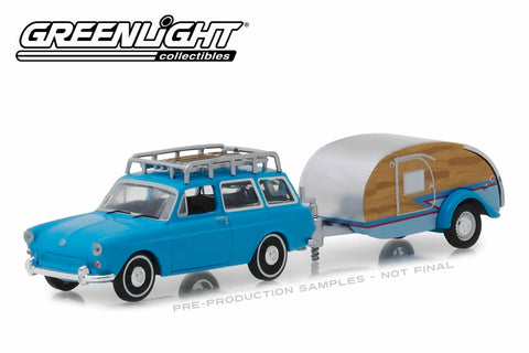 1961 Volkswagen Type 3 Squareback with Teardrop Trailer