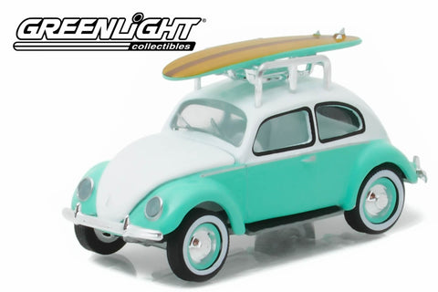 1946 Volkswagen Beetle with Roof Rack and Surfboards