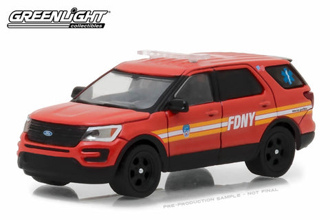 2016 Ford Interceptor Utility Official Fire Department City of New York (FDNY) with FDNY Squad Number Decal Sheet
