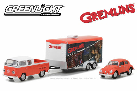 Gremlins (1984) - 1972 Volkswagen T2 Type 2 Double Cab Pick-Up / 1967 Volkswagen Beetle / Enclosed Car Hauler