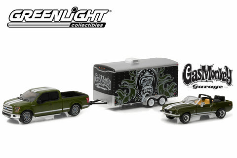 Gas Monkey Garage (2012-Current TV Series) 2015 Ford F-150 with 1968 Shelby GT500KR Convertible in Enclosed Car Hauler