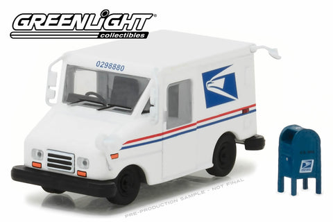 United States Postal Service (USPS) Long-Life Postal Delivery Vehicle (LLV) with Mailbox Accessory