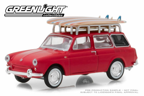 1962 Volkswagen Type 3 Squareback with Roof Rack and Surfboards