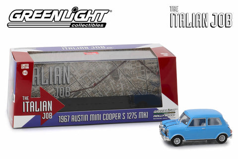 1:43 - The Italian Job (1969) / 1967 Austin Mini Cooper S 1275 MkI (Blue with Black Leather Straps)