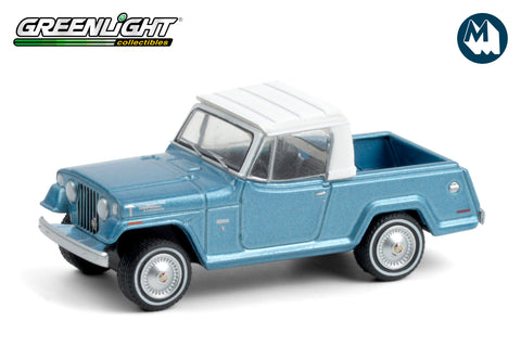 1970 Jeepster Commando Pickup - Light Blue Metallic with White Roof