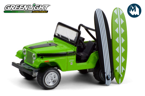 1971 Jeep CJ-5 Renegade II with Surfboards - Big Bad Green