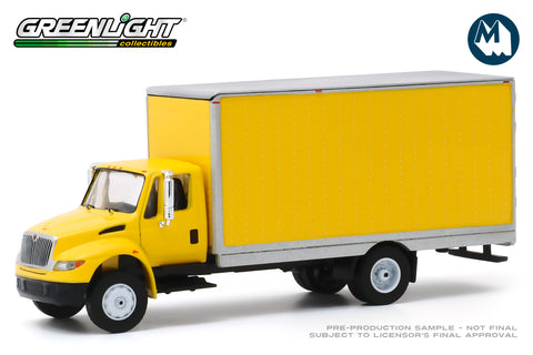 2013 International Durastar Box Van - Yellow with Silver Trim