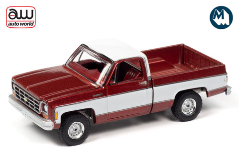 1977 Chevy Cheyenne C10 Fleetside (Dark Red Poly w/White)