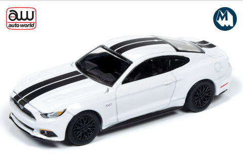 2017 Ford Mustang GT (Oxford White with Stripes)