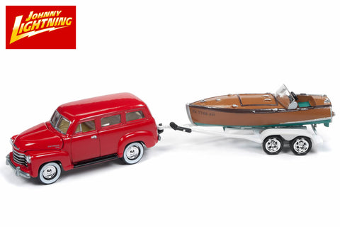 1950 Chevrolet Suburban with Vintage Speedster Wood Boat