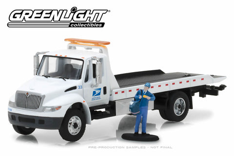2013 International Durastar Flatbed United States Postal Service (USPS) with USPS Mailman Figure