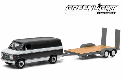 1977 Chevy G-20 Van and Flatbed Trailer