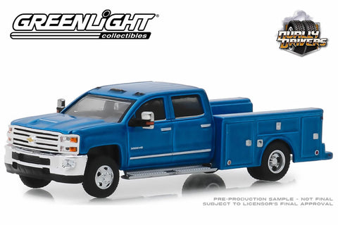 2018 Chevrolet Silverado 3500 Dually Service Bed (Deep Ocean Blue Metallic)