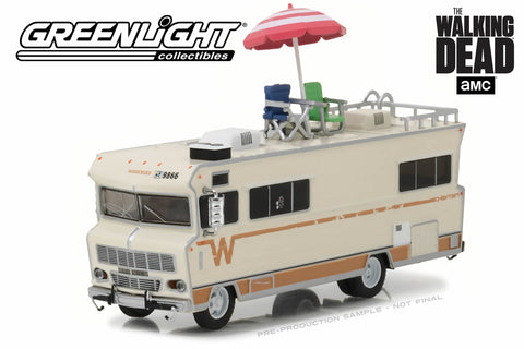 The Walking Dead / Dale's 1973 Winnebago Chieftain with Umbrella and Camping Chairs
