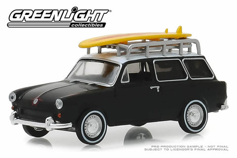 1965 Volkswagen Type 3 Squareback - Surf Wagon with Roof Rack and Surfboard