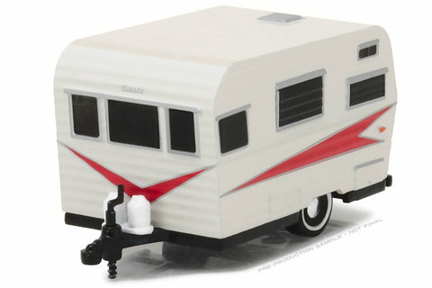 1959 Siesta Travel Trailer (Silver and Red)