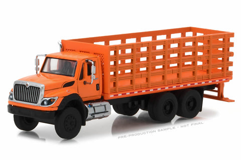2017 International WorkStar Platform Stake Truck - Orange