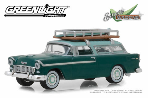 1955 Chevrolet Nomad (Neptune Green/Sea Mist Green with Surfboard Rack)