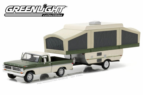 1970 Ford F-100 with Pop-Up Camper Trailer