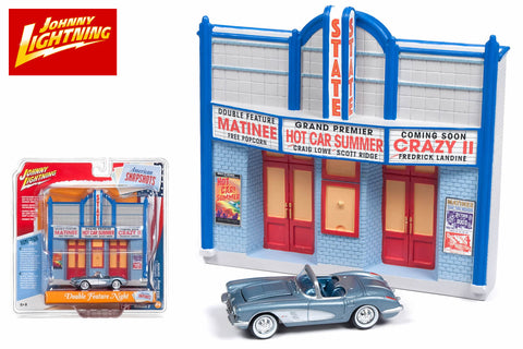 Movie Theatre Resin Facade / 1958 Chevy Corvette Convertible