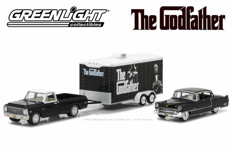 The Godfather (1972) - 1972 Chevy C-10 / 1955 Cadillac Fleetwood Series 60 Special / Enclosed Car Hauler