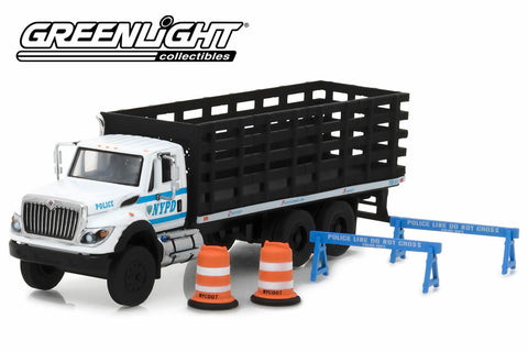 2017 International WorkStar Platform Stake Truck / New York City Police Department (NYPD) with Public Safety Accessories