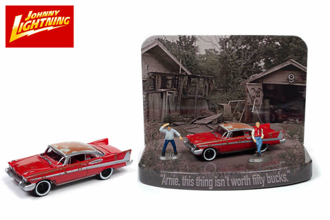 1958 Plymouth Fury (Junked Version) Diorama with Arnie and Dennis Figures / Christine