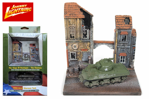 The Chateau resin display with WWII M4A3 Sherman Tank