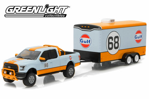 2015 Ford F-150 Gulf Oil #68 and Gulf Oil Enclosed Car Hauler