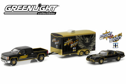 Smokey & The Bandit II (1980) 2015 Chevy Silverado with 1980 Pontiac Trans Am in Enclosed Car Hauler