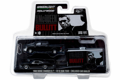 Bullitt (1968) 2017 Ram 2500 Power Wagon with 1968 Dodge Charger R/T in Enclosed Car Hauler