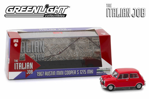 1:43 - The Italian Job (1969) / 1967 Austin Mini Cooper S 1275 MkI (Red with Black Leather Straps)