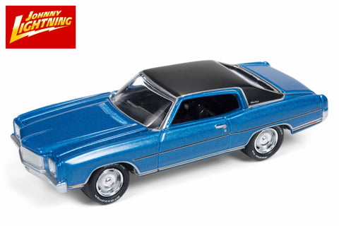Blue 1970 Chevy Monte Carlo Johnny Lightning 1//64 Muscle Cars USA 2018 5B