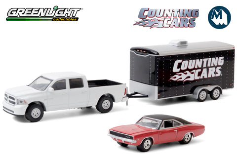 Counting Cars - 2014 Ram 1500 with 1968 Dodge Charger R/T in Enclosed Car Hauler