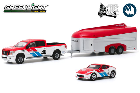 2019 Nissan Titan XD Pro-4X and 2019 Nissan 370Z BRE #46 (Brock Racing Enterprises) with Aerovault MKII Trailer