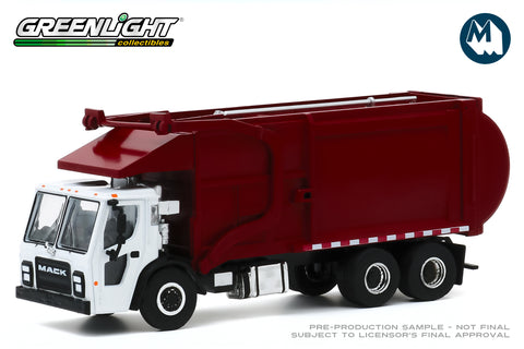 2019 Mack LR Refuse Truck - White and Red