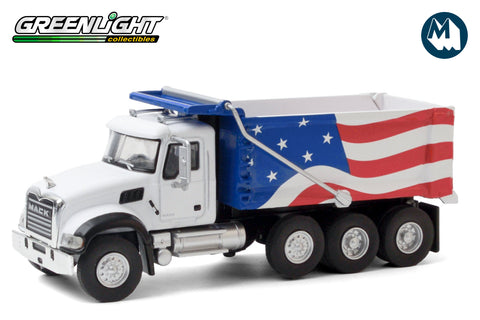 2019 Mack Granite Dump Truck - Red, White and Blue