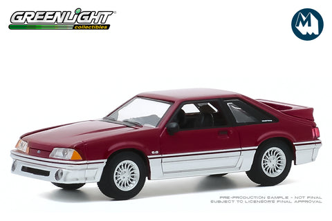 1988 Ford Mustang GT (Medium Scarlet and Silver)