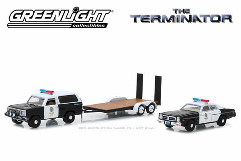 The Terminator - 1977 Dodge Ramcharger / 1977 Dodge Monaco Metropolitan Police / Flatbed Trailer