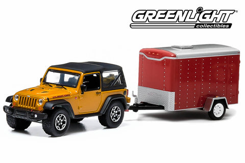 2014 Jeep Wrangler Rubicon X and Small Cargo Trailer