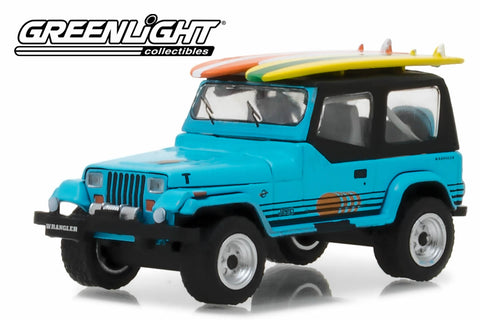 1987 Jeep Wrangler YJ with Surfboard