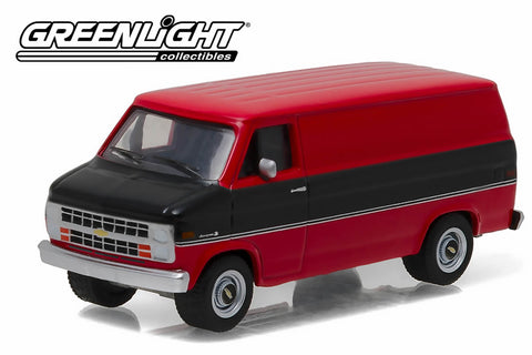 1986 Chevrolet G20 Van - Black and Red
