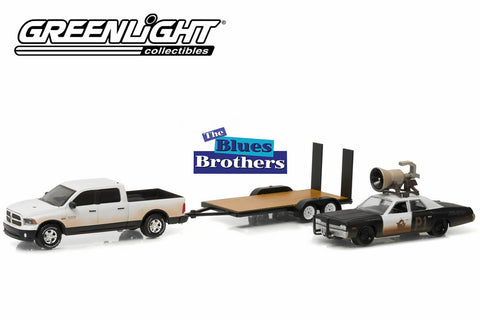 "Blues Brothers (1980) 2015 Ram 1500 with 1974 Dodge Monaco ""Bluesmobile"" on Flatbed Trailer"