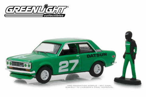 1970 Datsun 510 with Race Car Driver