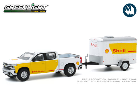 2019 Chevrolet Silverado Shell Oil and Small Shell Oil Cargo Trailer