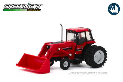 1982 Tractor - Red and Black with Front Loader and Dual Rear Wheels
