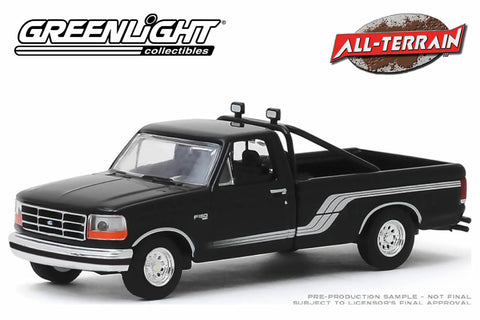1992 Ford F-150 4x4 - Raven Black with Silver Stripes