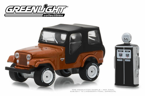 1974 Jeep CJ-5 - Copper Metallic with Vintage Gas Pump