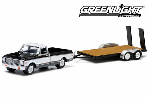 1971 Chevrolet Cheyenne Truck and Flatbed Trailer
