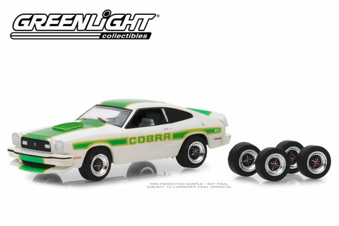 1978 Ford Mustang II Cobra II - White with Green Billboard Stripes and Spare Tyres